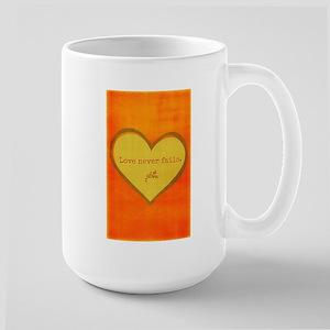 Love Never Fails Mugs