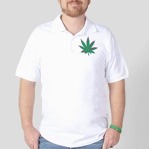 potleaf trippy Golf Shirt