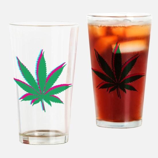 potleaf trippy Drinking Glass