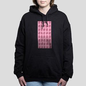 Cotton Candy Pink Ladybug Pattern Hooded Sweatshir