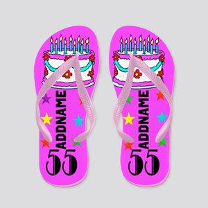 55Th Birtday Flip Flops