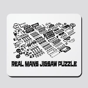 Real mans puzzle-small block V8 Mousepad