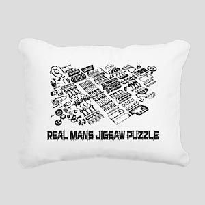 Real mans puzzle-small block V8 Rectangular Canvas