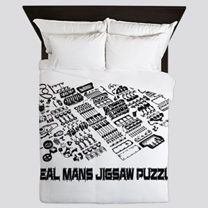 Real Mans Puzzle-Small Block V8 Queen Duvet