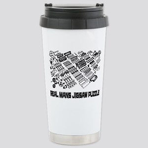 Real mans puzzle-small block V8 Travel Mug
