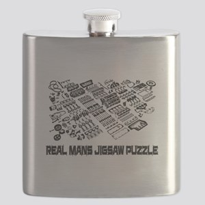 Real mans puzzle-small block V8 Flask