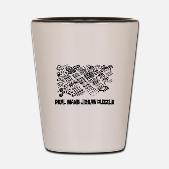 Real mans puzzle-small block V8 Shot Glass