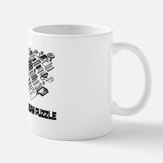 Real Mans Puzzle-Small Block V8 Mug