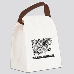 Real mans puzzle-small block V8 Canvas Lunch Bag