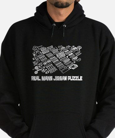Real Mans Puzzle-Small Block V8 Hoodie (Dark)