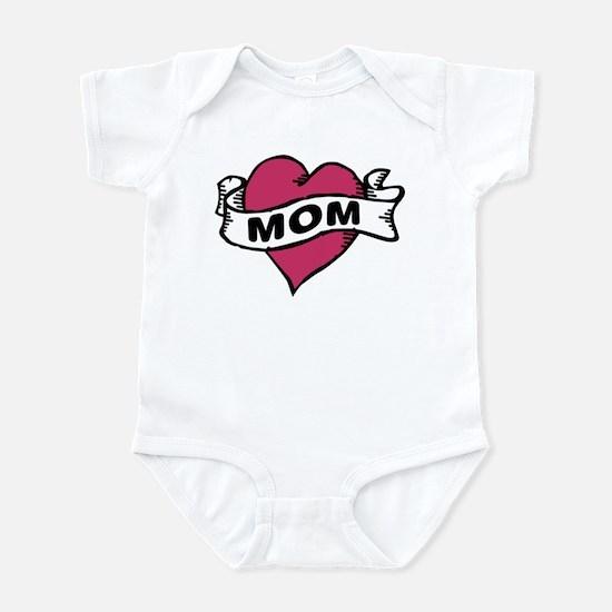 Mom Heart Tattoo Infant Bodysuit
