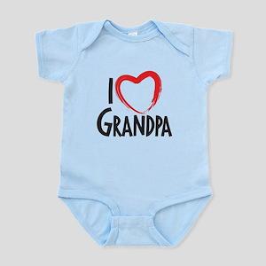 I heart grandpa, I love grandpa Body Suit