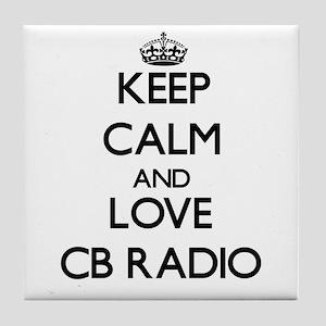 Keep calm and love Cb Radio Tile Coaster