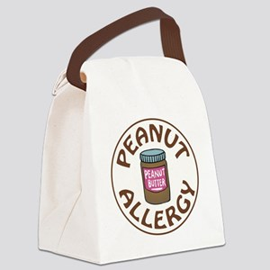 PEANUT BUTTER ALLERGY Canvas Lunch Bag