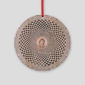 Floor Mosaic of Medusa Round Ornament