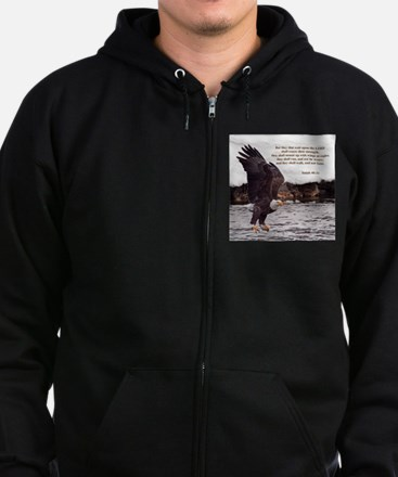 ISAIAH 40:31 WINGED EAGLES Zip Hoodie