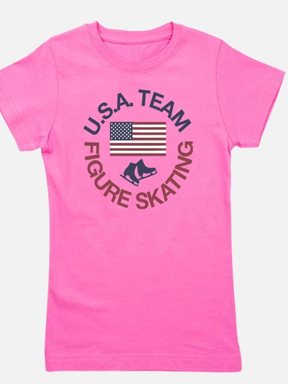 U.S.A. Team Figure Skating Girl's Tee