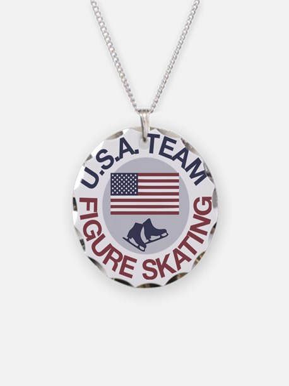 U.S.A. Team Figure Skating Necklace