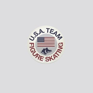 U.S.A. Team Figure Skating Mini Button