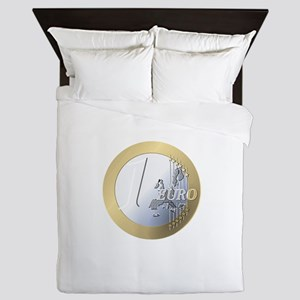 Euro Coin Queen Duvet