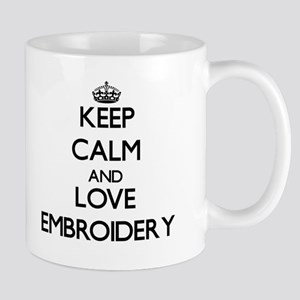 Keep calm and love Embroidery Mugs