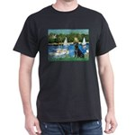 Sailboats & Black Lab Dark T-Shirt