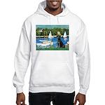Sailboats & Black Lab Hooded Sweatshirt