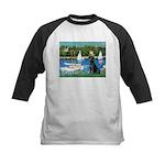 Sailboats & Black Lab Kids Baseball Jersey