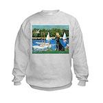 Sailboats & Black Lab Kids Sweatshirt