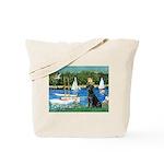 Sailboats & Black Lab Tote Bag
