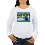 Sailboats & Black Lab Women's Long Sleeve T-Shirt