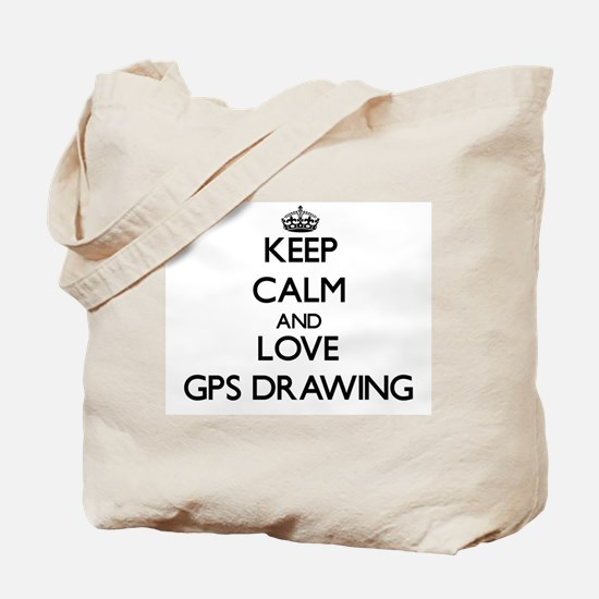 Keep calm and love Gps Drawing Tote Bag