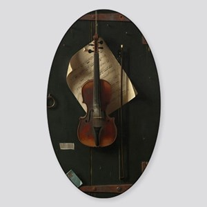 The Old Violin Sticker (Oval)