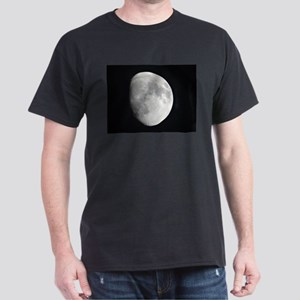 Half moon in black sky T-Shirt