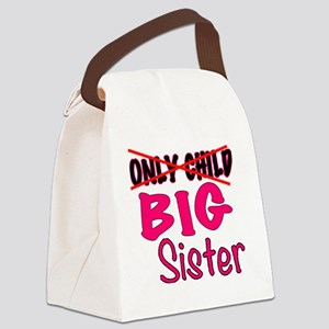 New Big Sister Announcement Canvas Lunch Bag