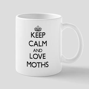 Keep calm and love Moths Mugs