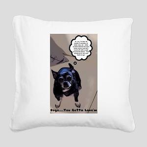 Unconditional Love Order DYGL Square Canvas Pillow