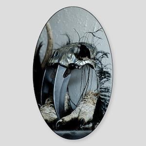 Iron skull Sticker (Oval)