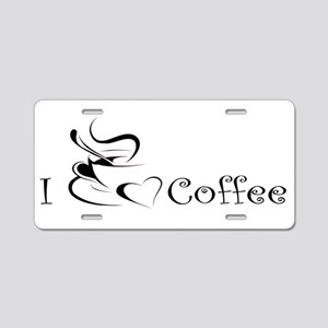 i love coffee mug Aluminum License Plate