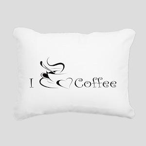 i love coffee mug Rectangular Canvas Pillow