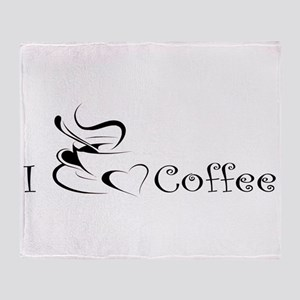 i love coffee mug Throw Blanket