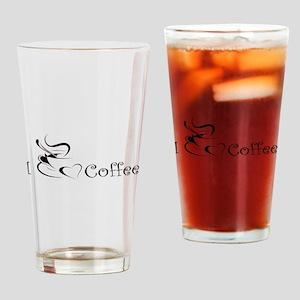 i love coffee mug Drinking Glass
