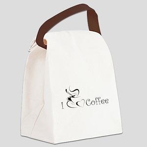 i love coffee mug Canvas Lunch Bag
