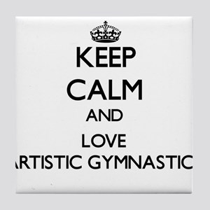 Keep calm and love Artistic Gymnastics Tile Coaste