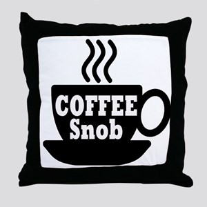 coffee snob Throw Pillow