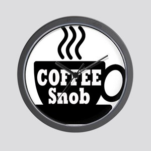 coffee snob Wall Clock