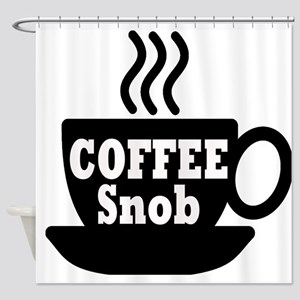 coffee snob Shower Curtain