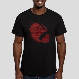 Football Words Men's Fitted T-Shirt (dark)