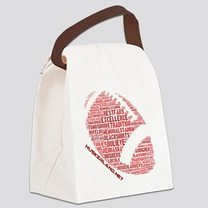 Football Words Canvas Lunch Bag