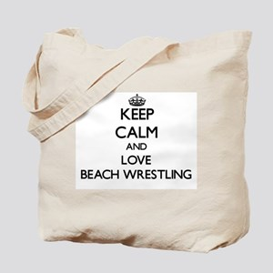 Keep calm and love Beach Wrestling Tote Bag
